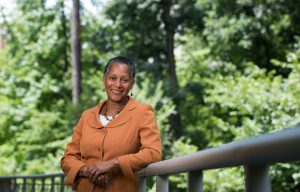 Gloria Thomas, Director of the Carolina Women's Center. Photographed July 29, 2016 at the Sonja Hanyes Stone Center on the campus of the University of North Carolina at Chapel Hill. (Jon Gardiner/UNC-Chapel Hill)